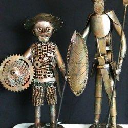 Don Quijote de la Mancha y su amigo Sancho.