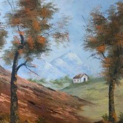 Una casita de campo... Pintura original... 15% DESCUENTO