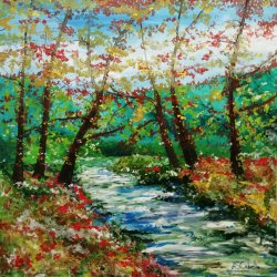 River morning light in autumn