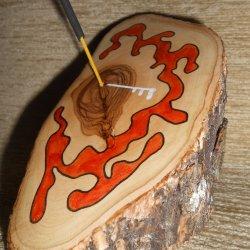 Palo de madera de olivo 2 (porta-inciensos)
