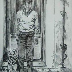 muchacho con perro