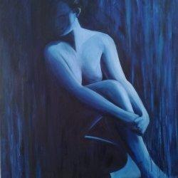 Mujer en azul 1