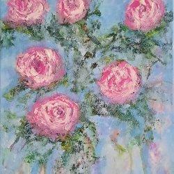 """"""" Romantic roses 04"""" , 40x30  cm, 80 euros"""