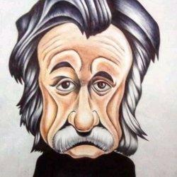 Caricature of the famous Albert Einstein treasury