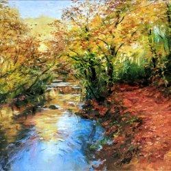 Sierra de Aralar. Oil paintings of country landscapes