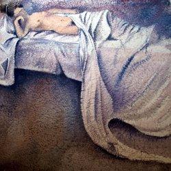 Female nude watercolor