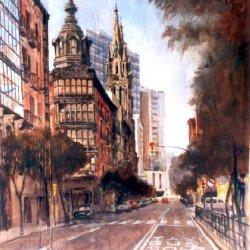Hurtado de Amezaga street in Bilbao (Vizcaya)