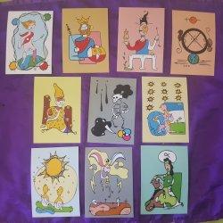 Colección Cartas del TAROT. Los 22 Arcanos mayores. Papel fotográfico