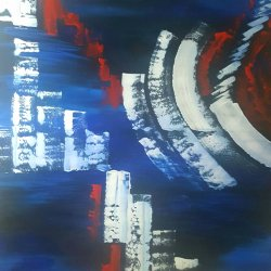 The latest fantasy ... FREE SHIPPING ... Painting 100x80 cm