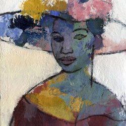 Woman with hat 3