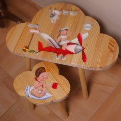 Conjunto mesa y sillas infantiles personalizables