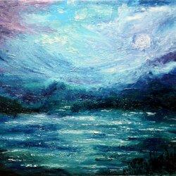 Lago azul.