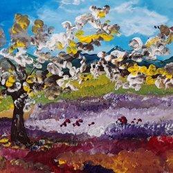 Panorámica del prado en primavera