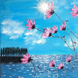 """""""Sunny day and flowers"""", 40x30 cm, 80 euros"""