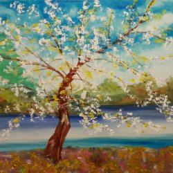 The almond tree of the lake
