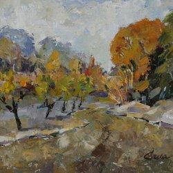 13 - Árboles en otoño, acrílico sobre madera 40x48 cm..JPG