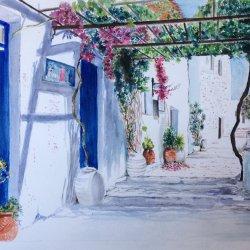 Una calle de Mykonos