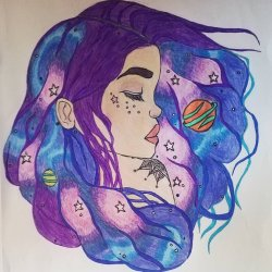 The starry girl