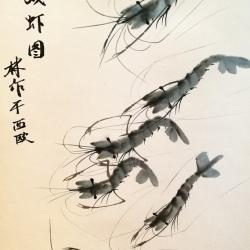 Prawns painting ink