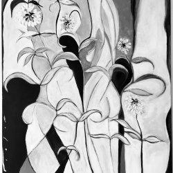 Flor, mujer y hombre