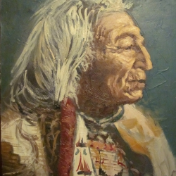 Retrato Red Cloud, Sioux