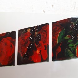 Triptych Roses