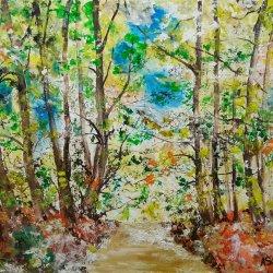 Between tree roads