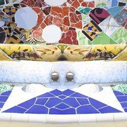 Güell park seat in Barcelona