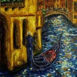 The wait for the gondolier.