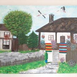 """"""" La casa de la abuela"""", 70x50 cm, 250 euros"""