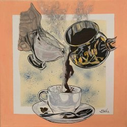 The dance of coffee with milk