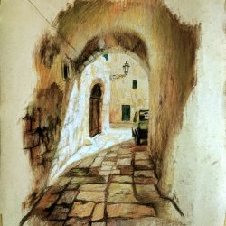 A street in Ostuni, Original paintings for rooms