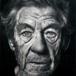 Retrato de Sir Ian McKellen
