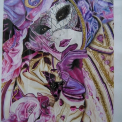 Portrait Mask, Carnival of Venice. Portrait of a Mask, Venice Carnival.
