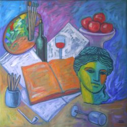 Still Life with Aphrodite and Books