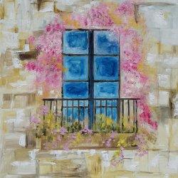 Blossomed balcony