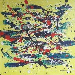 """""""Un sueño en amarillo 2 """", 50x50 cm, 90 euros"""