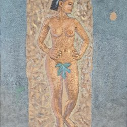 lady(soil painting)