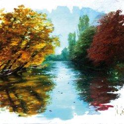 Pinturas al óleo de ríos