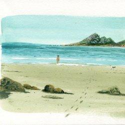 Paseo en la playa