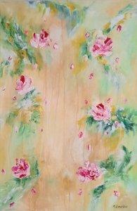 """""""Romantic roses 02"""", 60x40 cm, 110 euros"""
