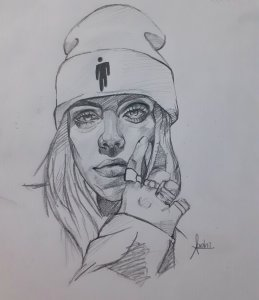 Billie Eilish sketch print