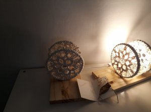 A couple of the bedside table lamps