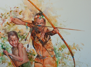 Hadza hunters, Tanzania 70x56.4 2013.JPG