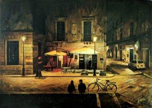 Noche en Lecce, Italia. Cuadros para dormitorios