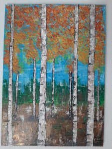 The Wisdom of Birch, 70x50 cm, 100 euros