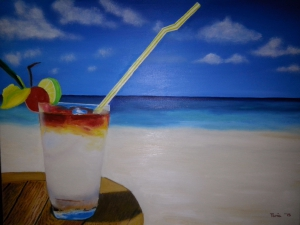 Bodegón Veraniego, relax en la playa.
