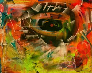 The eye, abstract No. 1