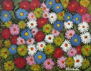 Colorful daisies