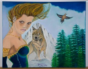 The woman and the wolf